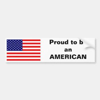 Orgulloso ser un americano pegatina de parachoque