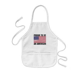 Orgulloso ser un americano - delantal patriótico