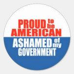 Orgulloso ser un americano etiqueta