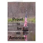 orgulloso ser un americano felicitación