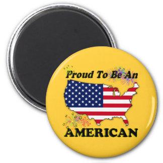 Orgulloso ser un americano imán para frigorífico