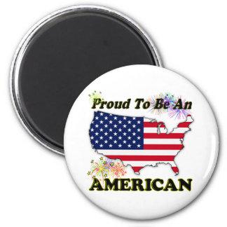 Orgulloso ser un americano imán para frigorifico