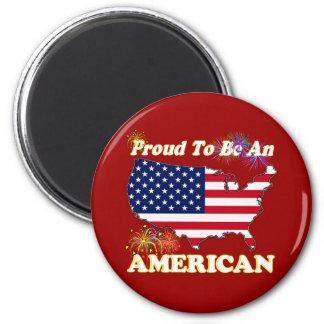 Orgulloso ser un americano imán