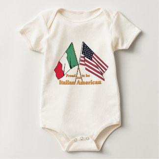 Orgulloso ser un americano italiano body para bebé