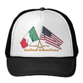 Orgulloso ser un americano italiano gorro de camionero