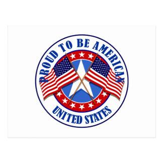 Orgulloso ser un americano tarjeta postal