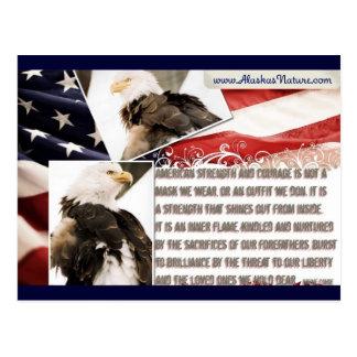 ¡Orgulloso ser un americano! Postal