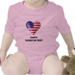 Orgulloso ser un americano traje de bebé