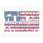 Orgulloso ser un ateo americano postales