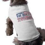 Orgulloso ser un ateo americano camiseta de perrito