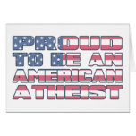 Orgulloso ser un ateo americano tarjeton