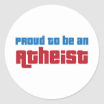 Orgulloso ser un ateo etiqueta redonda