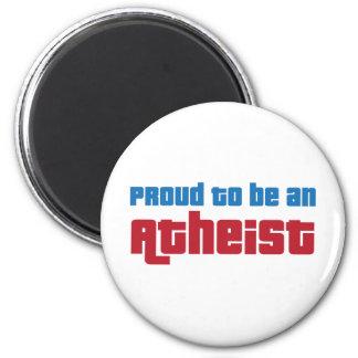 Orgulloso ser un ateo imán redondo 5 cm