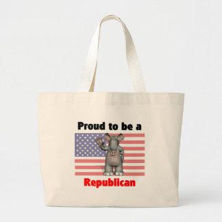 Orgulloso ser un bolso republicano bolsa tela grande