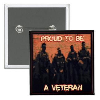 Orgulloso ser un botón del veterano pin