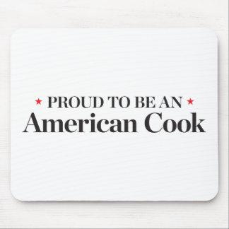 Orgulloso ser un cocinero americano tapete de ratones