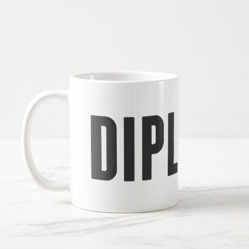 Orgulloso ser un diplomático taza de café