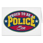 Orgulloso ser un hijo de la policía felicitacion