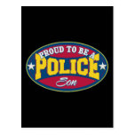 Orgulloso ser un hijo de la policía tarjeta postal