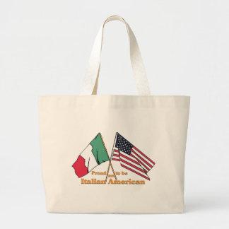 Orgulloso ser un Italiano-Americano Bolsa Tela Grande