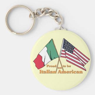 Orgulloso ser un Italiano-Americano Llavero Redondo Tipo Pin
