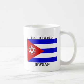 ¡Orgulloso ser un Jewban! Taza Básica Blanca