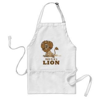 Orgulloso ser un león delantal