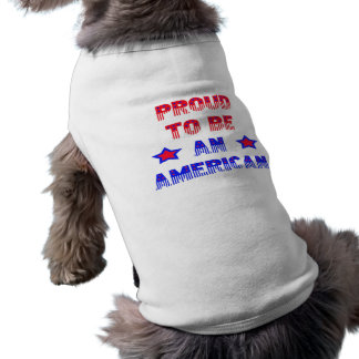 Orgulloso ser un mascota americano Jacket~ del ~ Playera Sin Mangas Para Perro