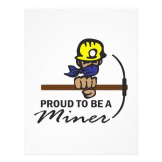 Orgulloso ser un minero plantillas de membrete