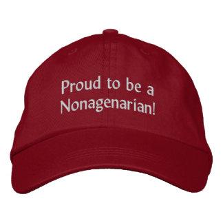 ¡Orgulloso ser un Nonagenarian! Gorra De Beisbol