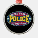 Orgulloso ser un novio de la policía ornamentos para reyes magos