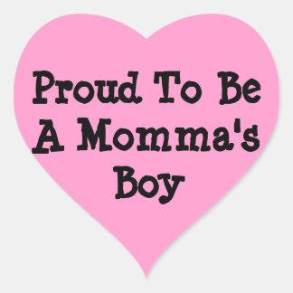 Orgulloso ser un pegatina del muchacho de Mommas