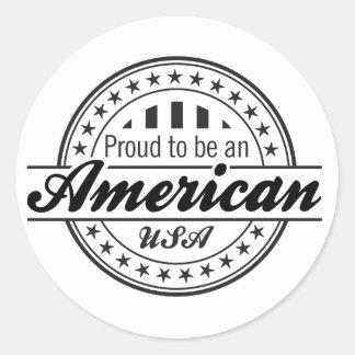 Orgulloso ser un pegatina patriótico americano