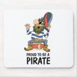 Orgulloso ser un pirata tapete de ratones