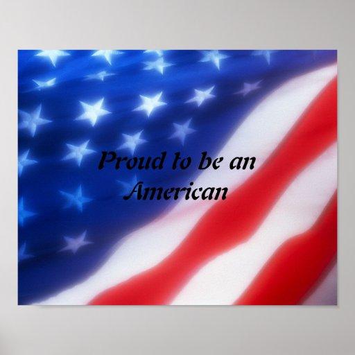 Orgulloso ser un poster americano