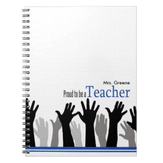 Orgulloso ser un profesor libros de apuntes