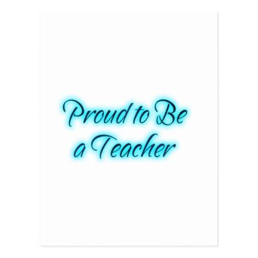 ¡Orgulloso ser un profesor! Postal