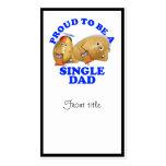Orgulloso ser un solo papá - patatas del padre y d tarjeta personal