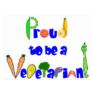 Orgulloso ser un vegetariano postal