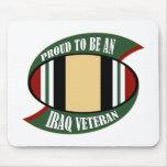 Orgulloso ser un veterano de Iraq Tapetes De Ratones