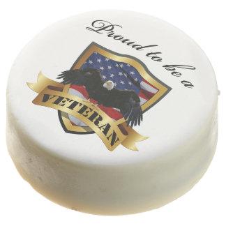 Orgulloso ser un veterano - Eagle calvo y bandera