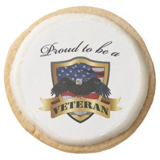 Orgulloso ser un veterano Eagle calvo y bandera de