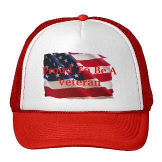 Orgulloso ser un veterano gorras de camionero