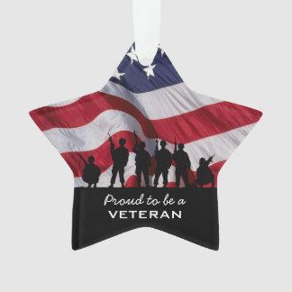 Orgulloso ser un veterano - silueta de los