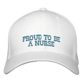 Orgulloso ser una enfermera gorra de béisbol bordada