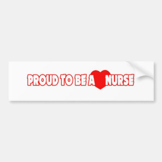 Orgulloso ser una enfermera pegatina para auto