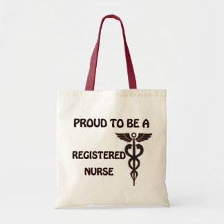 Orgulloso ser una enfermera registradoa bolsa tela barata