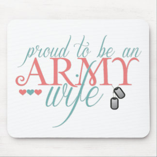 Orgulloso ser una esposa del ejército alfombrillas de raton