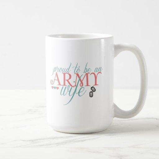 Orgulloso ser una esposa del ejército - taza