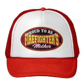 Orgulloso ser una madre de los bomberos gorros bordados